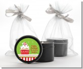 Christmas Cupcake - Christmas Black Candle Tin Favors
