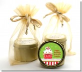 Christmas Cupcake - Christmas Gold Tin Candle Favors