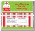 Christmas Cupcake - Personalized Christmas Candy Bar Wrappers thumbnail