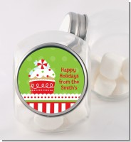 Christmas Cupcake - Personalized Christmas Candy Jar