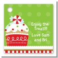 Christmas Cupcake - Personalized Christmas Card Stock Favor Tags thumbnail