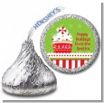 Christmas Cupcake - Hershey Kiss Christmas Sticker Labels thumbnail