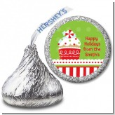 Christmas Cupcake - Hershey Kiss Christmas Sticker Labels