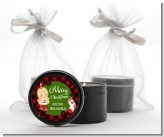 Christmas Girl - Christmas Black Candle Tin Favors
