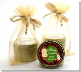 Christmas Girl - Christmas Gold Tin Candle Favors