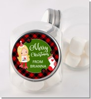 Christmas Girl - Personalized Christmas Candy Jar