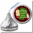 Christmas Girl - Hershey Kiss Christmas Sticker Labels thumbnail
