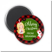 Christmas Girl - Personalized Christmas Magnet Favors