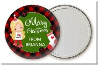 Christmas Girl - Personalized Christmas Pocket Mirror Favors