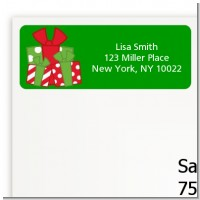 Christmas Gift Boxes - Christmas Return Address Labels