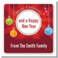 Christmas Ornaments - Square Personalized Christmas Sticker Labels thumbnail