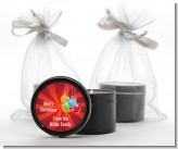 Christmas Ornaments - Christmas Black Candle Tin Favors