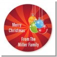 Christmas Ornaments - Round Personalized Christmas Sticker Labels thumbnail