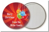 Christmas Ornaments - Personalized Christmas Pocket Mirror Favors
