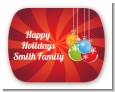 Christmas Ornaments - Personalized Christmas Rounded Corner Stickers thumbnail