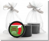 Christmas Stocking - Christmas Black Candle Tin Favors