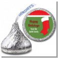 Christmas Stocking - Hershey Kiss Christmas Sticker Labels thumbnail