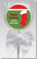 Christmas Stocking - Personalized Christmas Lollipop Favors