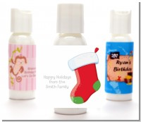 Christmas Stocking - Personalized Christmas Lotion Favors