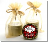 Christmas Time - Christmas Gold Tin Candle Favors