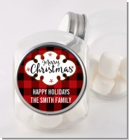 Christmas Time - Personalized Christmas Candy Jar