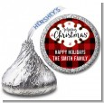 Christmas Time - Hershey Kiss Christmas Sticker Labels thumbnail