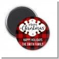 Christmas Time - Personalized Christmas Magnet Favors thumbnail