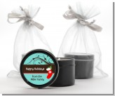 Christmas Tree and Stocking - Christmas Black Candle Tin Favors