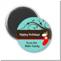 Christmas Tree and Stocking - Personalized Christmas Magnet Favors