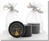 Christmas Tree Gold Glitter - Christmas Black Candle Tin Favors