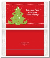 Christmas Tree - Personalized Popcorn Wrapper Christmas Favors
