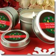 Christmas Wreath and Bells - Christmas Candle Favors thumbnail