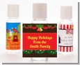Christmas Wreath and Bells - Personalized Christmas Hand Sanitizers Favors thumbnail
