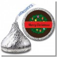 Christmas Wreath and Bells - Hershey Kiss Christmas Sticker Labels thumbnail