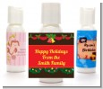 Christmas Wreath and Bells - Personalized Christmas Lotion Favors thumbnail
