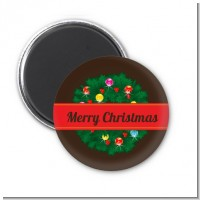 Christmas Wreath and Bells - Personalized Christmas Magnet Favors