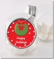 Christmas Wreath - Personalized Christmas Candy Jar