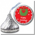 Christmas Wreath - Hershey Kiss Christmas Sticker Labels thumbnail