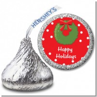 Christmas Wreath - Hershey Kiss Christmas Sticker Labels
