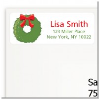 Christmas Wreath - Christmas Return Address Labels