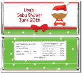 Christmas Baby African American - Personalized Baby Shower Candy Bar Wrappers