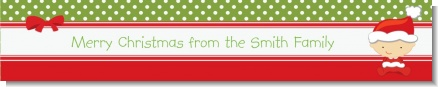 Christmas Baby Caucasian - Personalized Baby Shower Banners