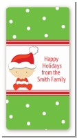 Christmas Baby Caucasian - Custom Rectangle Baby Shower Sticker/Labels
