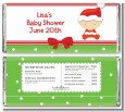 Christmas Baby Caucasian - Personalized Baby Shower Candy Bar Wrappers thumbnail