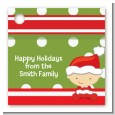 Christmas Baby Caucasian - Personalized Baby Shower Card Stock Favor Tags thumbnail