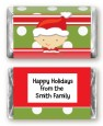 Christmas Baby Caucasian - Personalized Baby Shower Mini Candy Bar Wrappers thumbnail