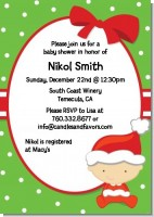 Christmas Baby Caucasian - Baby Shower Invitations