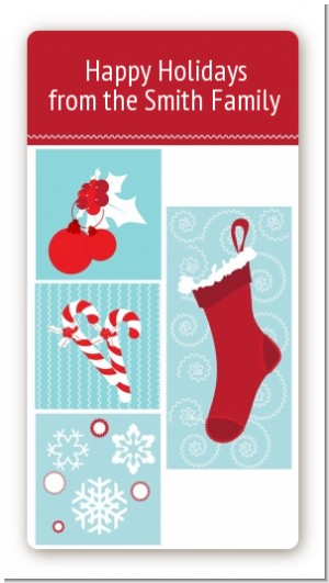 Christmas Spectacular - Custom Rectangle Christmas Sticker/Labels