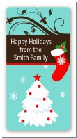 Christmas Tree and Stocking - Custom Rectangle Christmas Sticker/Labels