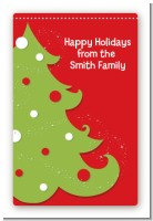 Christmas Tree - Custom Large Rectangle Christmas Sticker/Labels